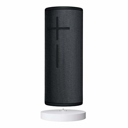 Ultimate Ears Boom 3 Tragbarer Bluetooth-Lautsprecher – Power Up Ladestation, 360°-Sound, satter Bass, wasserdicht, sturzfest und staubresistent, 15-Stunden Akkulaufzeit – mitternachtsschwarz