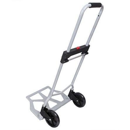 Nictemaw Klappbare Aluminium Sackkarre, Transportkarre mit Gummirädern, mit Ausziehbarem Griff für bis zu 100 kg